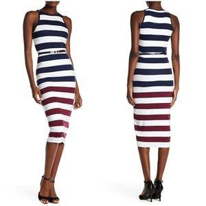 NWT TED BAKER   Yuni Rowing Stripe Bodycon Dress